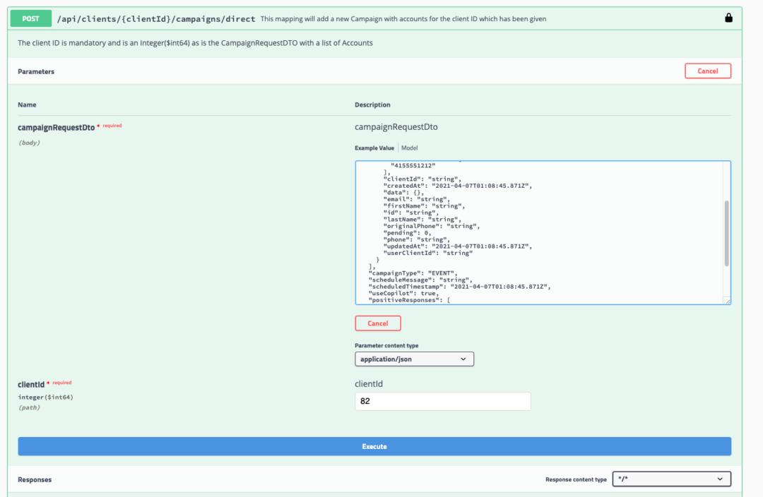 SMS API Configuration