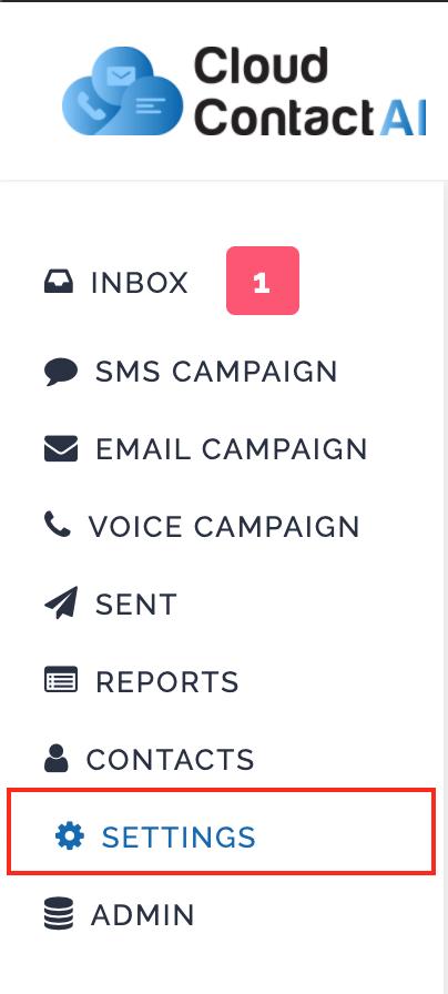 SMS Keyword Settings
